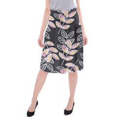 Winter Foliage Midi Beach Skirt
