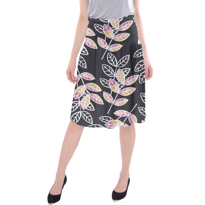 Winter Foliage Midi Beach Skirt