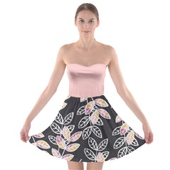 Winter Foliage Strapless Bra Top Dress by DanaeStudio