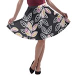 Winter Foliage A-line Skater Skirt