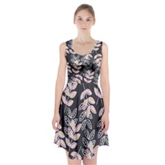 Winter Foliage Racerback Midi Dress