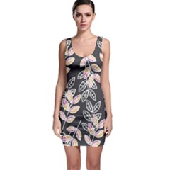 Winter Foliage Bodycon Dress
