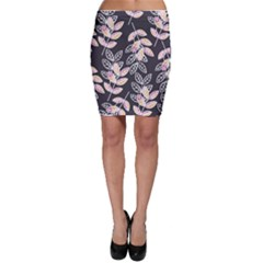 Winter Foliage Bodycon Skirt