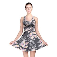 Winter Foliage Reversible Skater Dress