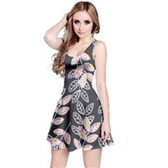 Winter Foliage Reversible Sleeveless Dress