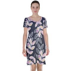 Winter Foliage Short Sleeve Nightdress