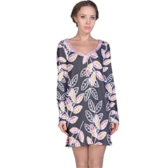 Winter Foliage Long Sleeve Nightdress