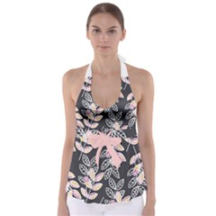 Winter Foliage Babydoll Tankini Top