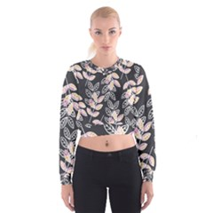 Winter Foliage Women s Cropped Sweatshirt