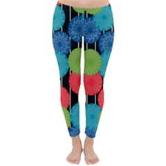 Vibrant Retro Pattern Winter Leggings  by DanaeStudio