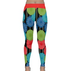 Vibrant Retro Pattern Yoga Leggings
