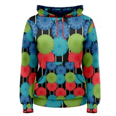 Vibrant Retro Pattern Women s Pullover Hoodie
