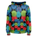 Vibrant Retro Pattern Women s Pullover Hoodie View1
