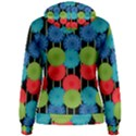 Vibrant Retro Pattern Women s Pullover Hoodie View2