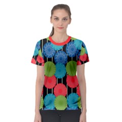 Vibrant Retro Pattern Women s Sport Mesh Tee by DanaeStudio