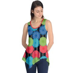 Vibrant Retro Pattern Sleeveless Tunic
