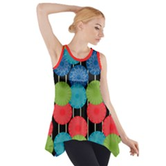 Vibrant Retro Pattern Side Drop Tank Tunic