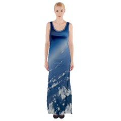 Space Photography Maxi Thigh Split Dress by vanessagf