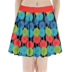 Vibrant Retro Pattern Pleated Mini Skirt