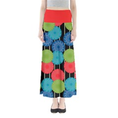 Vibrant Retro Pattern Women s Maxi Skirt