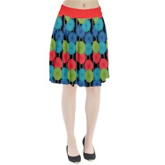 Vibrant Retro Pattern Pleated Skirt