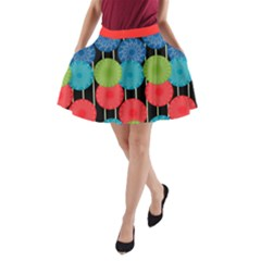 Red A Line Pocket Skirt