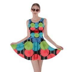 Vibrant Retro Pattern Skater Dress