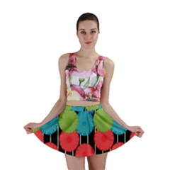 Vibrant Retro Pattern Mini Skirt