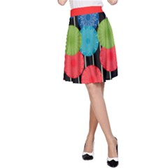 Vibrant Retro Pattern A Line Skirt