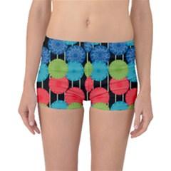 Vibrant Retro Pattern Boyleg Bikini Bottoms
