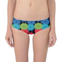 Vibrant Retro Pattern Classic Bikini Bottoms