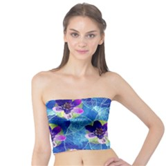 Purple Flowers Tube Top by DanaeStudio