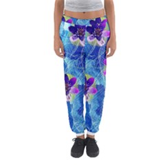 Purple Flowers Women s Jogger Sweatpants