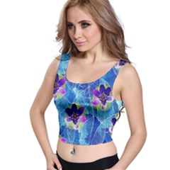 Purple Flowers Crop Top