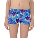 Purple Flowers Boyleg Bikini Bottoms View1