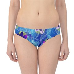Purple Flowers Hipster Bikini Bottoms