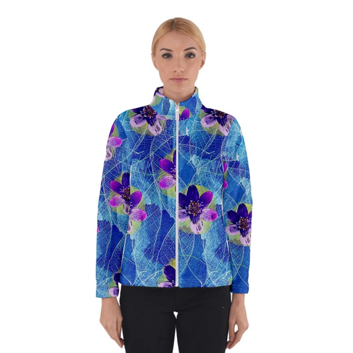 Purple Flowers Winter Jacket