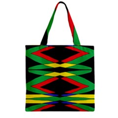 Space Net Zipper Grocery Tote Bag by MRTACPANS