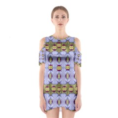 Soul Flower Cutout Shoulder Dress by pepitasart