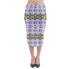Soul Flower Midi Pencil Skirt by pepitasart