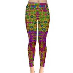 Carpe Diem In Rainbows Leggings  by pepitasart