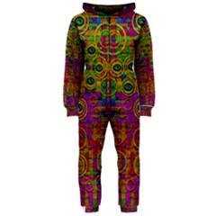 Carpe Diem In Rainbows Hooded Jumpsuit (ladies)  by pepitasart