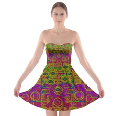 Carpe Diem In Rainbows Strapless Dresses