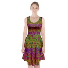 Carpe Diem In Rainbows Racerback Midi Dress by pepitasart