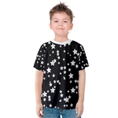 Black And White Starry Pattern Kid s Cotton Tee