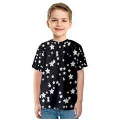 Black And White Starry Pattern Kid s Sport Mesh Tee