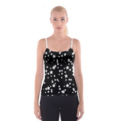 Black And White Starry Pattern Spaghetti Strap Top