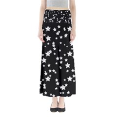 Black And White Starry Pattern Women s Maxi Skirt