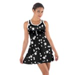 Black and White Starry Pattern Cotton Racerback Dress