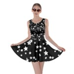 Black and White Starry Pattern Skater Dress